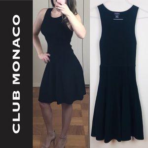NWOT Club Monaco Knit Fit Flare Little Black Dress
